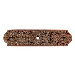 Olde World 3-7/8 Inch Length Antique Copper Back-plate <small>(#NHE-573-AC)</small>