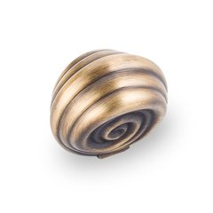 Lille 1-3/8 Inch Diameter Antique Brushed Satin Brass Cabinet Knob