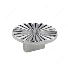 Art Deco 5/8 Inch Center to Center Chrome Cabinet Pull