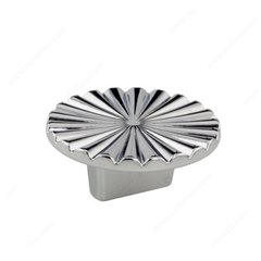 Art Deco 5/8 Inch Center to Center Chrome Cabinet Pull <small>(#157050140)</small>