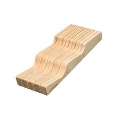 "Wave Knife Block 5-5/8"" W Maple"