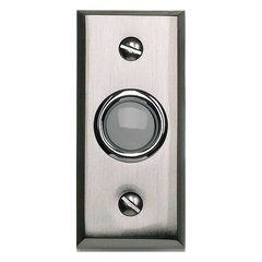 Mission Lighted Doorbell Button Brushed Nickel <small>(#DB644-BRN)</small>