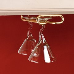 Single Stemware Holder 18 inch D - Brass
