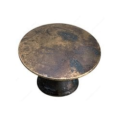Povera 1-3/8 Inch Diameter Oxidized Brass Cabinet Knob