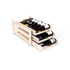 Wine Logic 3 Tray/18 Bottle In Cabinet Wine Rack Maple