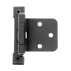 Flush Overlay Semi Concealed Hinge Black Iron