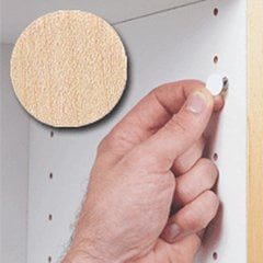 14MM Stick-On Cover Cap Unf. Maple Wood- 1040 Per Box <small>(#FC.SW.916.MP)</small>