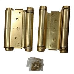 3029-6 6 inch Double Acting Mortise Spring Hinge - Satin Brass