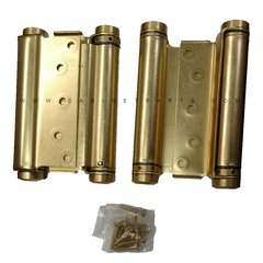 "3029-6 6"" Double Acting Mortise Spring Hinge - Satin Brass"