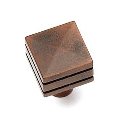 Kama 7/8 Inch Diameter Rust Cabinet Knob <small>(#23219)</small>