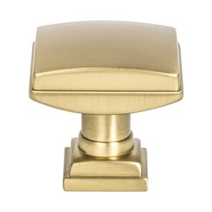"Tailored Traditional Knob 1-1/4"" Dia Modern Brushed Gold"