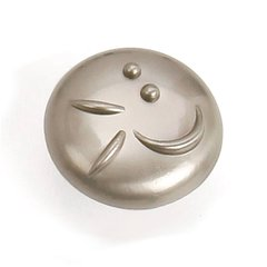 Graffiti 1-3/8 Inch Diameter Satin Nickel Cabinet Knob <small>(#37228)</small>
