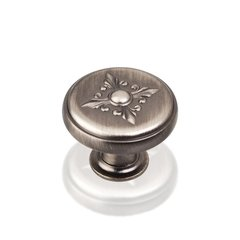 Lafayette 1-3/8 Inch Diameter Bright Nickel Brushed with Dull Lacquer Cabinet Knob
