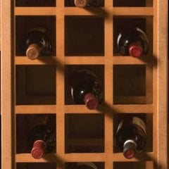 17X29 Sonoma Wine Rack Panels-Red Oak
