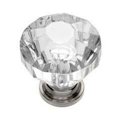 Crystal Palace 1-1/4 Inch Diameter Crystal Acrylic/Bright Nickel Cabinet Knob