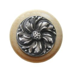 English Garden 1-1/2 Inch Diameter Antique Pewter Cabinet Knob <small>(#NHW-714N-AP)</small>
