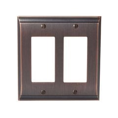 Candler Two Rocker Wall Plate Oil Rubbed Bronze