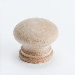 Appalachia 1-5/16 Inch Diameter Unlacquered Maple Cabinet Knob