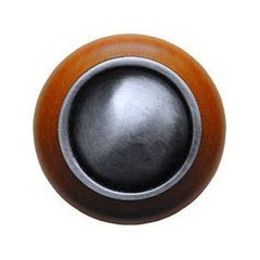 Classic 1-1/2 Inch Diameter Antique Pewter Cabinet Knob <small>(#NHW-761C-AP)</small>