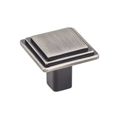 Calloway 1-1/8 Inch Diameter Brushed Pewter Cabinet Knob <small>(#351BNBDL)</small>