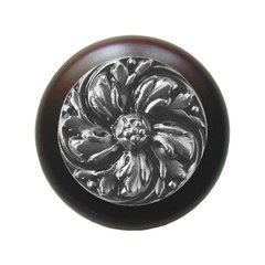 English Garden 1-1/2 Inch Diameter Satin Nickel Cabinet Knob <small>(#NHW-714W-SN)</small>