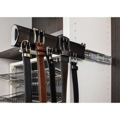 14 Inch Belt Rack with 6 double hooks - Satin Nickel