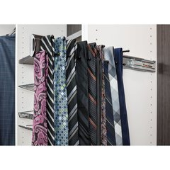 14 Inch Tie Rack with 12 hooks - Dark Bronze