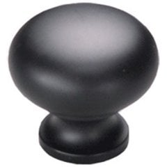 Country 1-1/4 Inch Diameter Flat Black Cabinet Knob <small>(#706-FB)</small>