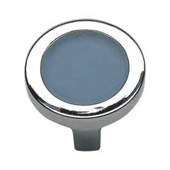 Spa 1-3/8 Inch Diameter Brushed Nickel Cabinet Knob <small>(#230-BLU-BRN)</small>