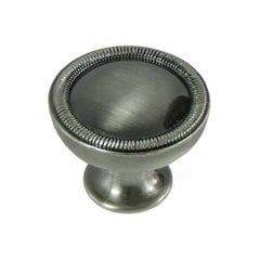 Vanilla 1-1/4 Inch Diameter Satin Antique Nickel Cabinet Knob