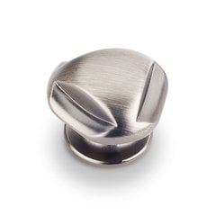 Chesapeake 1-5/16 Inch Diameter Bright Nickel Brushed with Dull Lacquer Cabinet Knob