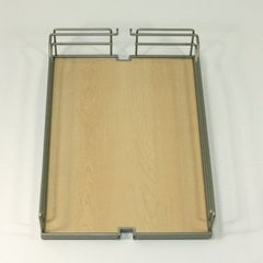 Arena Plus Tray 15-3/8 inch D Chrome/Maple