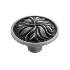 Mayfair 1-3/8 Inch Diameter Satin Pewter Antique Cabinet Knob