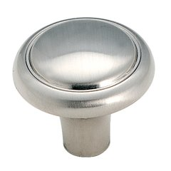 Brass & Sterling Traditions 1-1/8 Inch Diameter Sterling Nickel Cabinet Knob <small>(#BP1308G9)</small>