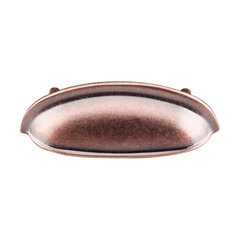 Somerset 3 Inch Center to Center Antique Copper Cabinet Cup Pull <small>(#M367)</small>
