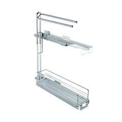 Base Pullout with Towel Rail 90 Degree Chrome