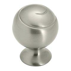 Swirl'Z 1-1/8 Inch Diameter Satin Nickel Cabinet Knob <small>(#BP9338G10)</small>