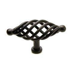 Saxon 3-1/2 Inch Diameter Matte Black Cabinet Knob
