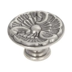 Manor House 1-5/16 Inch Diameter Silver Stone Cabinet Knob <small>(#P8160-ST)</small>