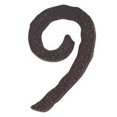 Hammered House Number Nine Aged Bronze <small>(#HN9L-O)</small>