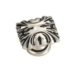Ithica 1-5/16 Inch Length Satin Antique Silver Cabinet Knob <small>(#P3430-SAS)</small>