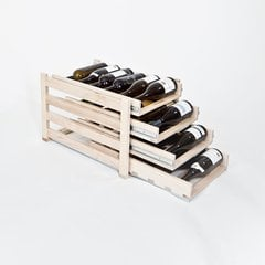 Wine Logic 4 Tray/24 Bottle In Cabinet Wine Rack Maple