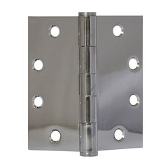 "Full Mort. Plain Bearing Hinge 4-1/2"" X 4-1/2"" Bright Chrome"