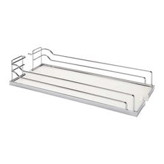 "Arena Plus Tray Set (2) 10"" Wide Chrome/White"