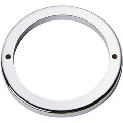 Tableau Round Baseplate 3 inch Center to Center Polished Chrome