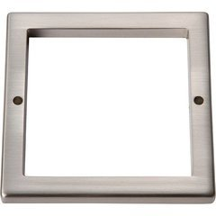 Tableau Square Baseplate 3 inch Center to Center Brushed Nickel
