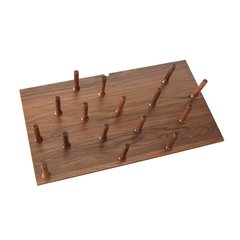 Large Walnut Drawer Peg System (16 Pegs)