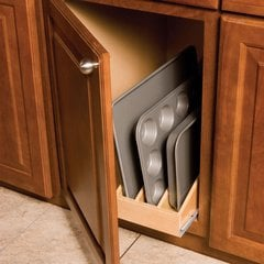 Tray Roll-out For 15 inch Base Cabinet-3 Dividers
