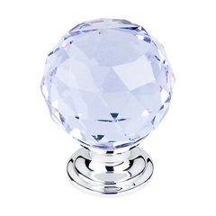 Crystal 1-3/8 Inch Diameter Light Blue Crystal Cabinet Knob <small>(#TK114PC)</small>