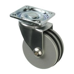 Furniture Caster With Swivel - Aluminum